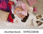woman having winter depression  ... | Shutterstock . vector #549023848