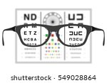 vision test with a par of... | Shutterstock . vector #549028864