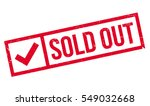 sold out rubber stamp. grunge... | Shutterstock .eps vector #549032668