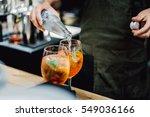 bartender making alcoholic... | Shutterstock . vector #549036166