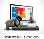 cctv camera and dvr   digital... | Shutterstock .eps vector #549040093