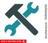 hammer and wrench eps vector... | Shutterstock .eps vector #549040690