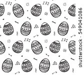 easter egg pattern background | Shutterstock .eps vector #549041086