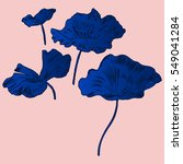 exotic flowers set. botanical...   Shutterstock .eps vector #549041284