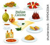 italian cuisine cartoon icon... | Shutterstock .eps vector #549042064