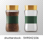 coffee glass jar with instant... | Shutterstock .eps vector #549042106