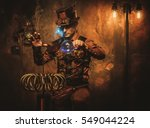 Steampunk Man With Tesla Coil...