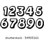 block numbers   Shutterstock .eps vector #54905161