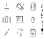 diagnosis icons set. outline...   Shutterstock . vector #549052738