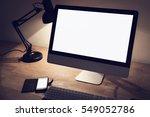 desktop computer mockup | Shutterstock . vector #549052786
