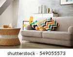 modern living room with sofa... | Shutterstock . vector #549055573