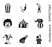 circus chapiteau icons set.... | Shutterstock . vector #549057064