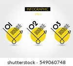 yellow linear round oblique... | Shutterstock .eps vector #549060748