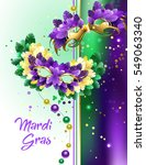 designed with colorful mardi... | Shutterstock .eps vector #549063340