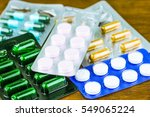 drug prescription for treatment ... | Shutterstock . vector #549065224