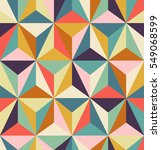seamless geometric retro pattern | Shutterstock .eps vector #549068599