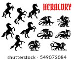 heraldic mythical animals... | Shutterstock .eps vector #549073084