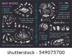 doodles sketches meat  steak ... | Shutterstock .eps vector #549075700