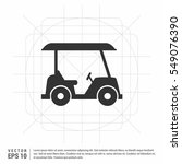 cool vector golf car with golf... | Shutterstock .eps vector #549076390