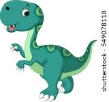cute dinosaur cartoon | Shutterstock .eps vector #549078118