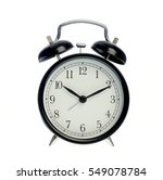 black alarm clock  isolated on... | Shutterstock . vector #549078784