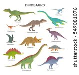 vector collection of cute flat... | Shutterstock .eps vector #549081076