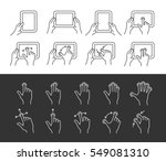 tablet pc gesture vector icons. ...