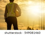 engineer or safety officer... | Shutterstock . vector #549081460