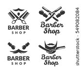 barber shop vector logo set....   Shutterstock .eps vector #549082084
