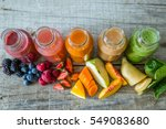 selection of colorful smoothies ... | Shutterstock . vector #549083680