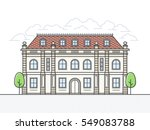 french chateau vector icon....   Shutterstock .eps vector #549083788