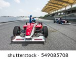 racing car driver celebrate... | Shutterstock . vector #549085708