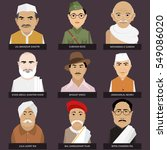 indian freedom fighters | Shutterstock .eps vector #549086020