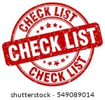 check list. stamp. red round... | Shutterstock .eps vector #549089014