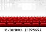 rows of red cinema movie... | Shutterstock .eps vector #549090013
