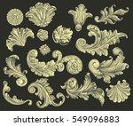 victorian baroque ornament... | Shutterstock .eps vector #549096883