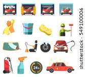 car wash icons. collection... | Shutterstock .eps vector #549100006