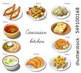 caucasian cuisine set.... | Shutterstock .eps vector #549100168