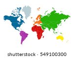 political map of the world.... | Shutterstock .eps vector #549100300