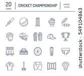 vector line icons of cricket... | Shutterstock .eps vector #549104863