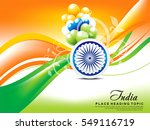 happy indian republic day wave... | Shutterstock .eps vector #549116719