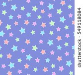 abstract pastel stars seamless... | Shutterstock .eps vector #549118084
