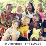 family picnic outdoors... | Shutterstock . vector #549119119