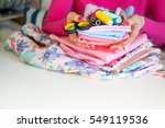 female hands and accessories... | Shutterstock . vector #549119536