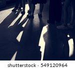line queue row waiting standing ...   Shutterstock . vector #549120964