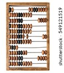 old wooden abacus isolated on a ... | Shutterstock . vector #549121519