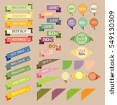 set sale retro ribbons and... | Shutterstock .eps vector #549130309