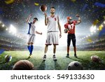 multi sports proud players... | Shutterstock . vector #549133630