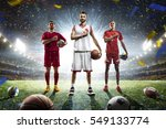 multi sports proud players... | Shutterstock . vector #549133774