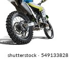 Dirt Bike And Rider Isolated O...